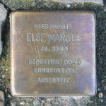 Stolpersteine Berlin 173 (2): In memory of Else Marcus (Rönnestrasse 11)