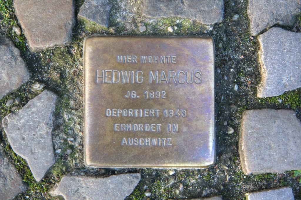 Stolpersteine Berlin 173 (3): In memory of Hedwig Marcus (Rönnestrasse 11)