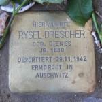 Stolpersteine Berlin 174 (2): In memory of Rysel Drescher (Gervinusstrasse)