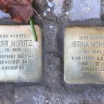 Stolpersteine Berlin 174 (4): In memory of Kurt Moritz and Erna Moritz (Gervinusstrasse)