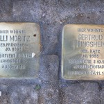 Stolpersteine Berlin 174 (5): In memory of Elli Moritz and Gertrud Pringsheim (Gervinusstrasse)