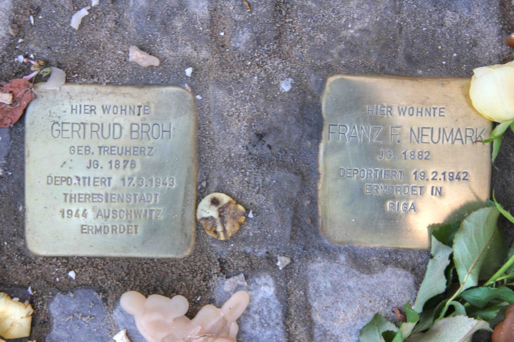 Stolpersteine Berlin 174 (6): In memory of Gertrud Broh and Frank F Neumark (Gervinusstrasse)