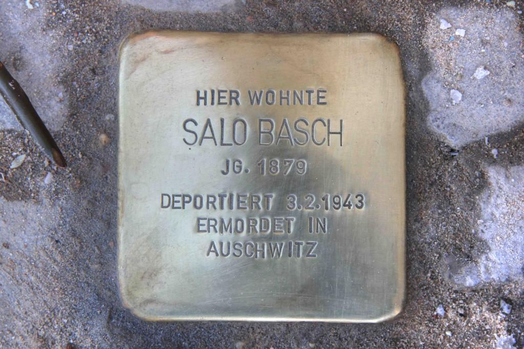 Stolpersteine Berlin 174 (7): In memory of Salo Basch (Gervinusstrasse)