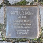 Stolpersteine Berlin 176: In memory of Arthur Konn (Gervinusstrasse 4)
