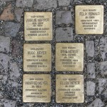 Stolpersteine Berlin 178: In memory of Amalie Kopper, Felix Rowald, Hugo Meyer, Irma Meyer, Manfred Meyer and Ellen Meyer (Gipstrasse 23A)