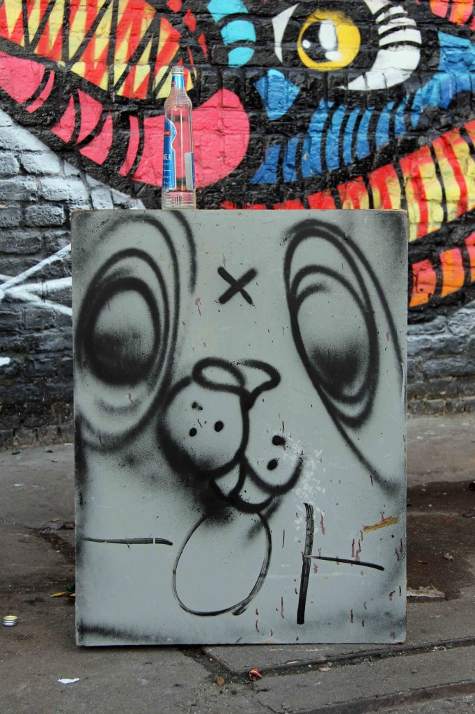 Drunk Bunny - Street Art by Unknown Artist in Berlin