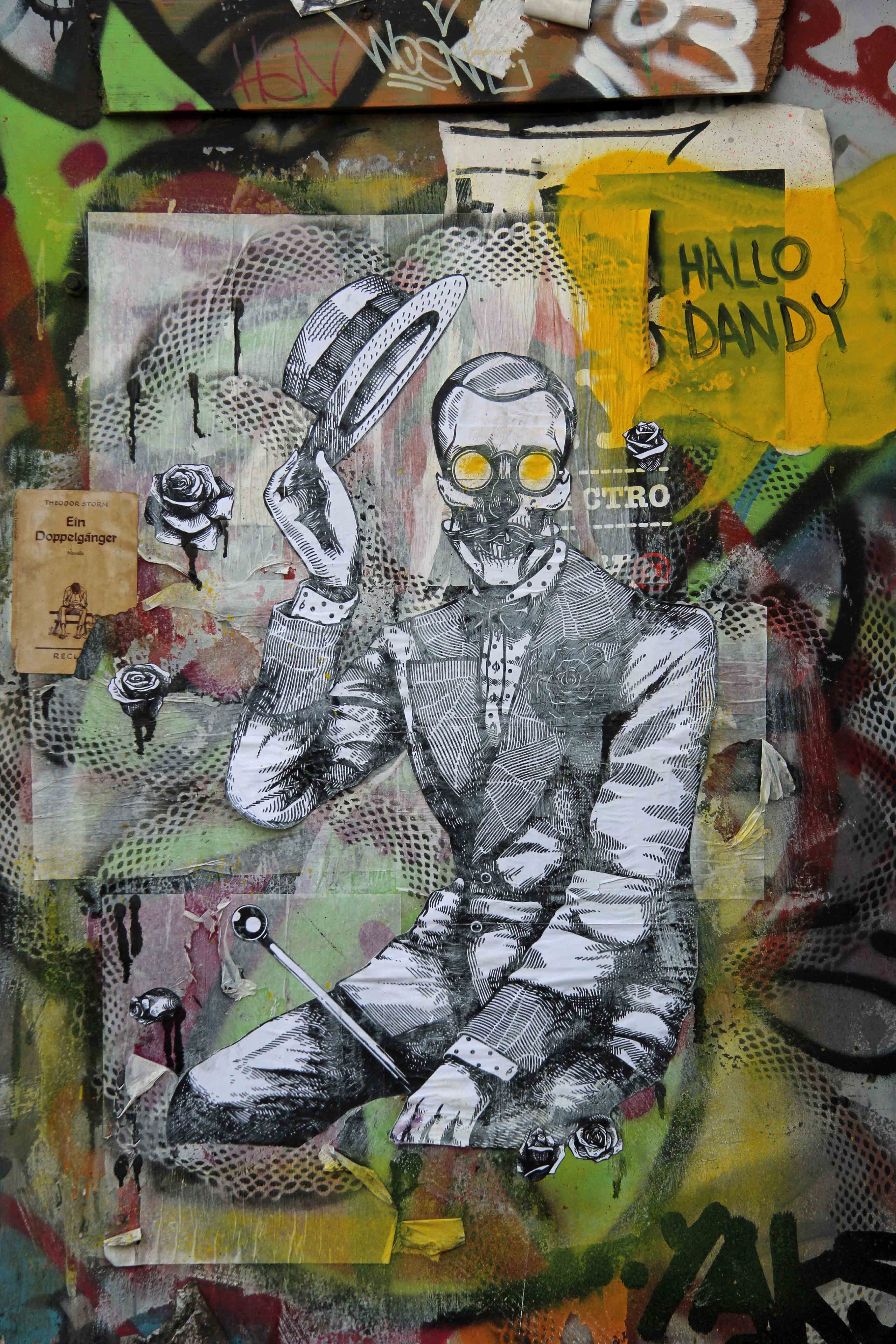 Hallo Dandy - Street Art by Unknown Artist in Berlin