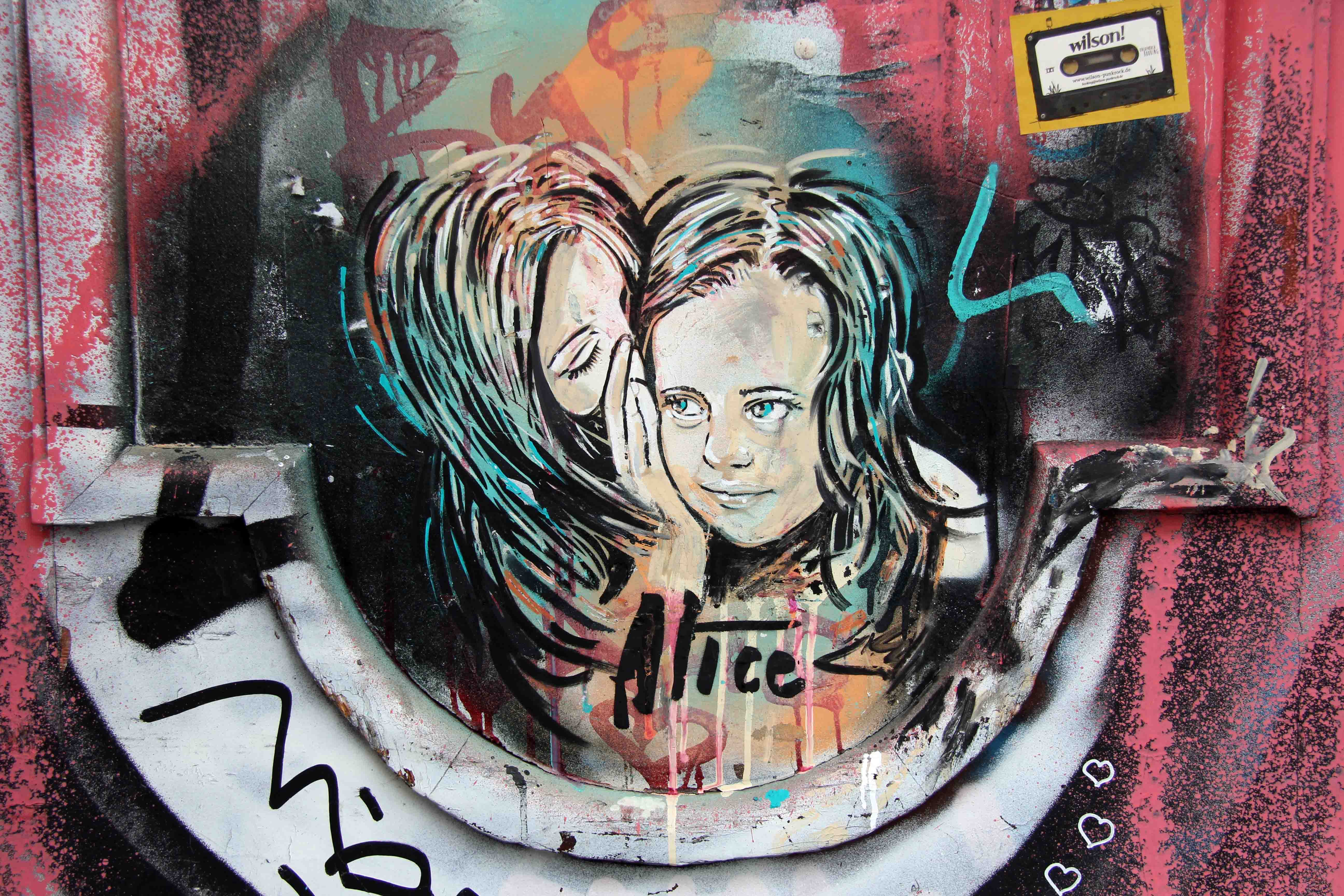 Do You Wanna Know A Secret? - Street Art by AliCé in Berlin