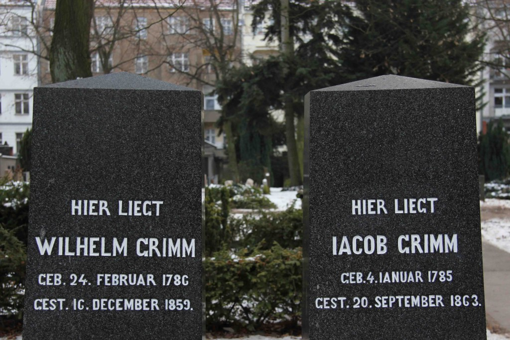 The graves of the Brothers Grimm (Gebrüder Grimm) in the Alter St-Matthäus-Kirchof in Schöneberg in Berlin