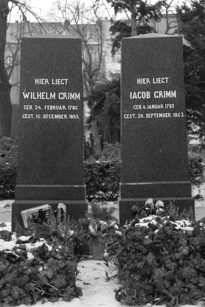 The graves of the Brothers Grimm (Gebrüder Grimm) in the Alter St-Matthäus-Kirchof in Schöneberg Berlin