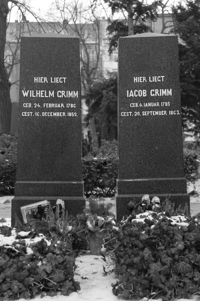 The graves of the Brothers Grimm (Gebrüder Grimm) in the Alter St-Matthäus-Kirchof in Schöneberg Berlin