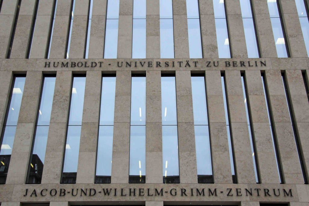 Jacob-und-Wilhelm-Grimm-Zentrum - the building named after the Brothers Grimm, authors of Grimm's Fairy Tales, houses the central library of the Humboldt University