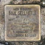 Stolpersteine Berlin 181: In memory of Max Sellheim (Corner of Naunynstrasse and Manteuffelstrasse)