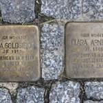 Stolpersteine Berlin 183 (1): In memory of Anna Goldstrom and Clara Arnheim (Uhlandstrasse 181 – 183)
