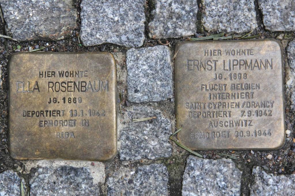 Stolpersteine Berlin 183 (2): In memory of Ella Rosenbaum and Ernst Lippmann (Uhlandstrasse 181 – 183)