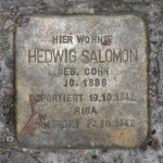Stolpersteine Berlin 184 (1): In memory of Hedwig Salomon (Mommsenstrasse 45)