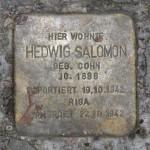 Stolpersteine Berlin 184 (1): In memory of Hedwig Salomon (Mommsenstrasse 45)