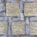 Stolpersteine Berlin 188: Wolf M Ehrenreich, Ernst W Ehrenreich, Rosa Hirschweh, Curt Hirschweh and Gertrud Müller (Wielandstrasse 31)