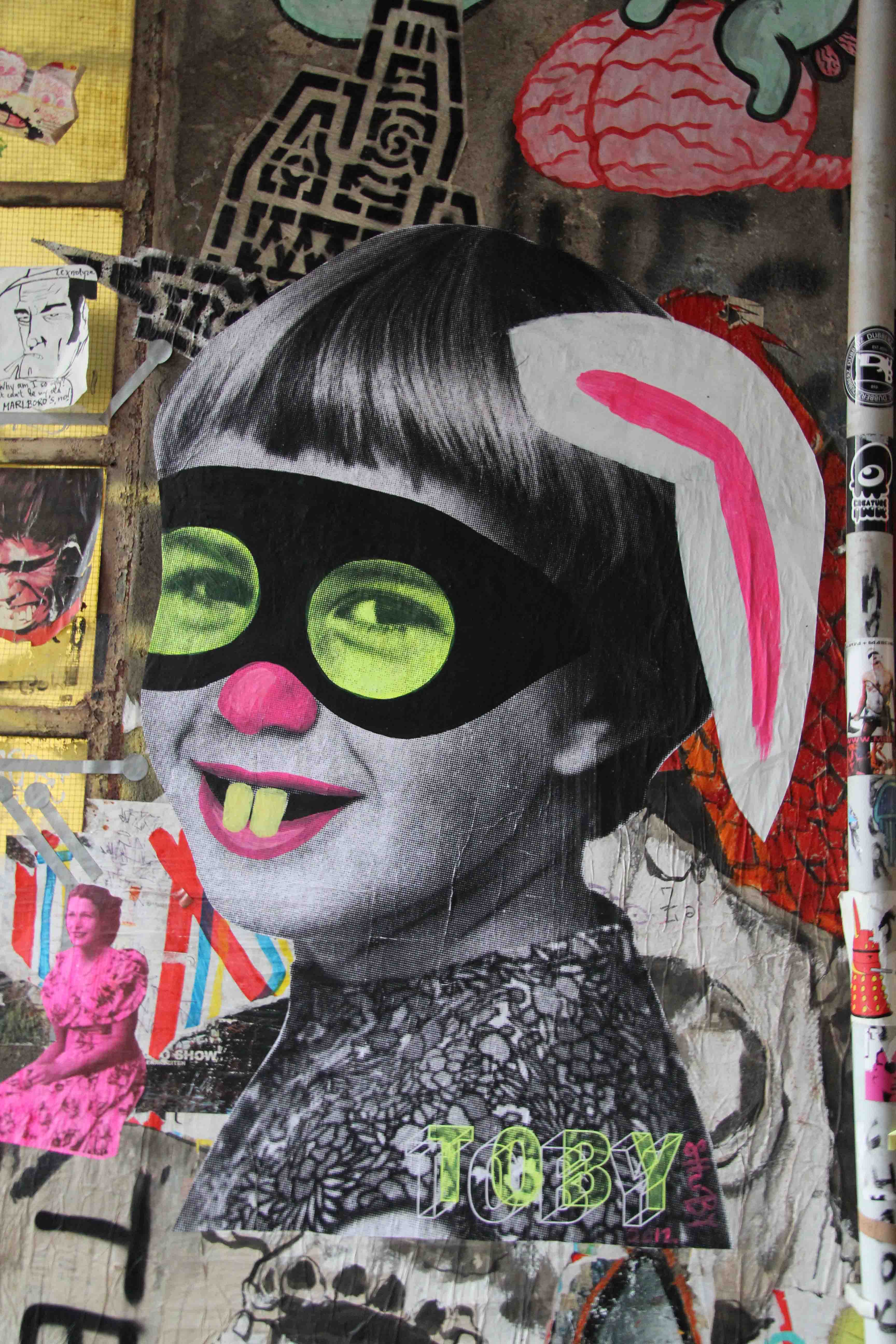 Funny Girl / Bunny Girl - Street Art by TOBY in Berlin