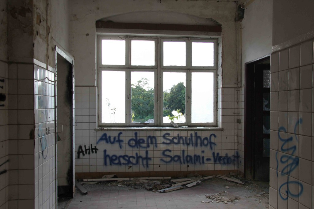 Graffiti at Rewatex Berlin - an abandoned industrial laundry and dyeing factory
