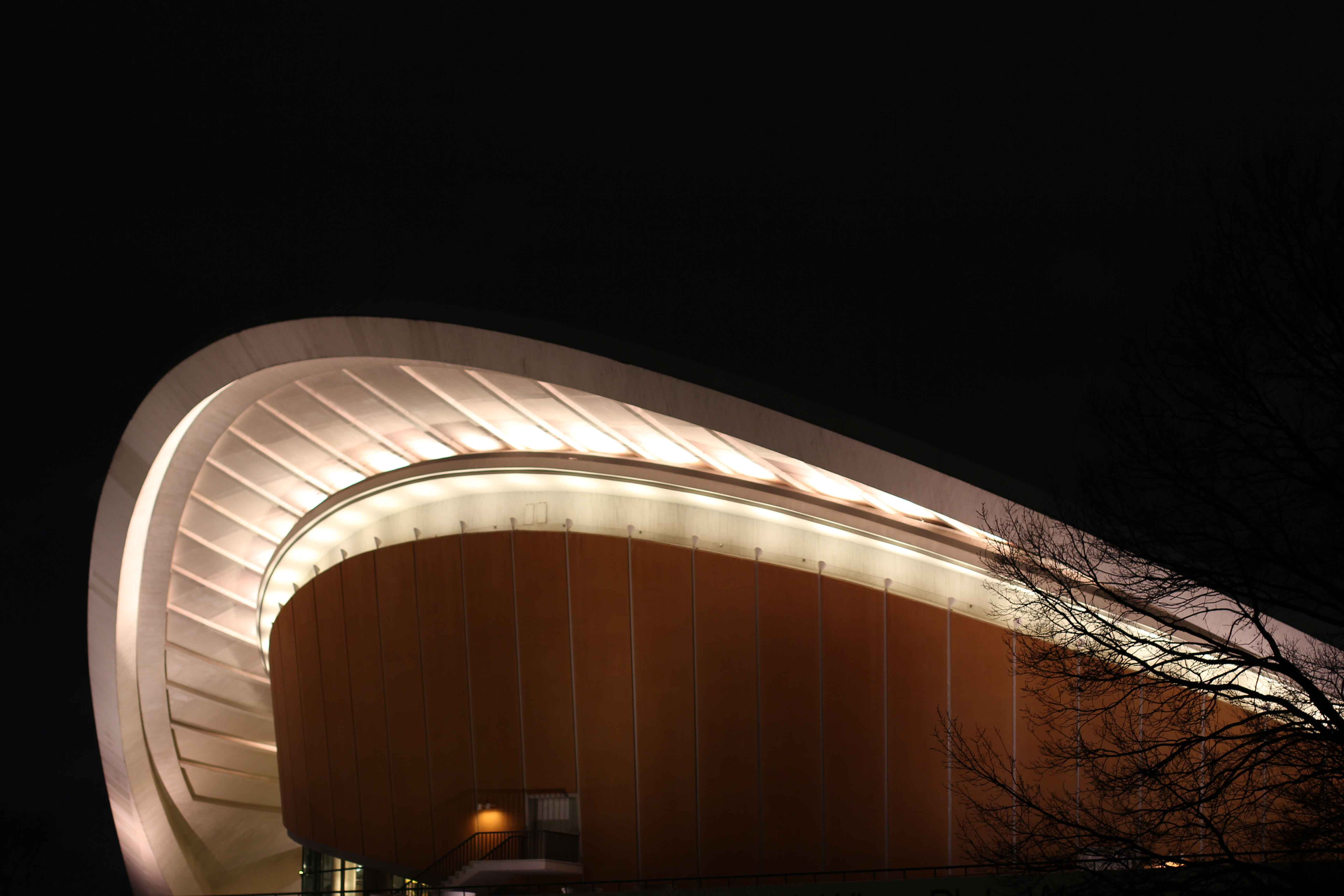 Haus der Kulturen der Welt Berlin at Night