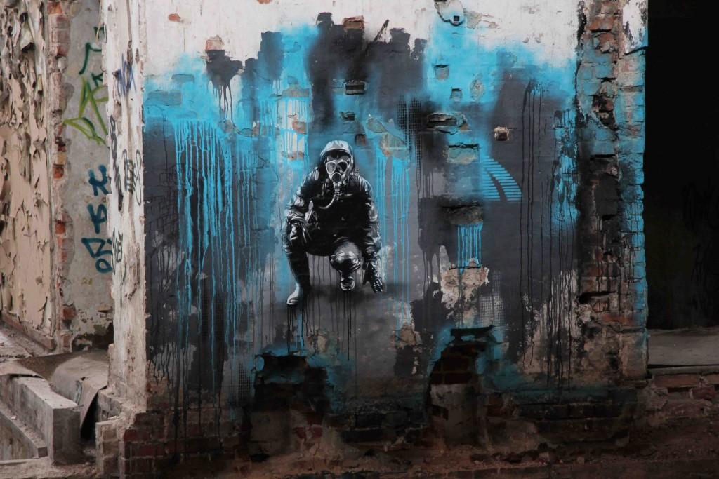KEN Street Art at Rewatex Berlin - an abandoned industrial laundry and dyeing factory