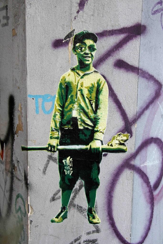 Bug Eyed Boy - Street Art by Robi The Dog in Berlin