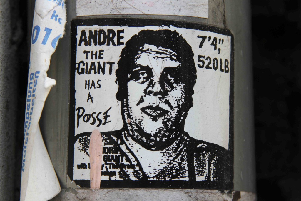 André The Giant Has A Posse Sticker - Street Art by Shepard Fairey in Berlin