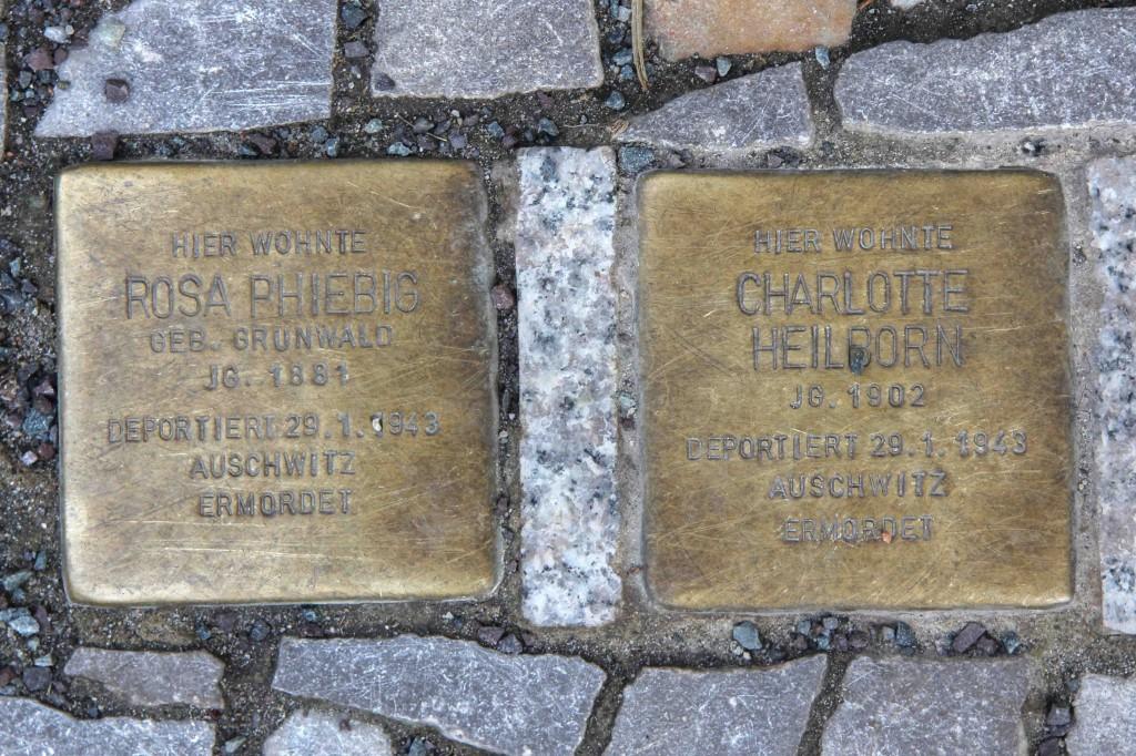 Stolpersteine Berlin 189 (1): In memory of Rosa Phiebig and Charlotte Heilborn (Schlüterstrasse 54)