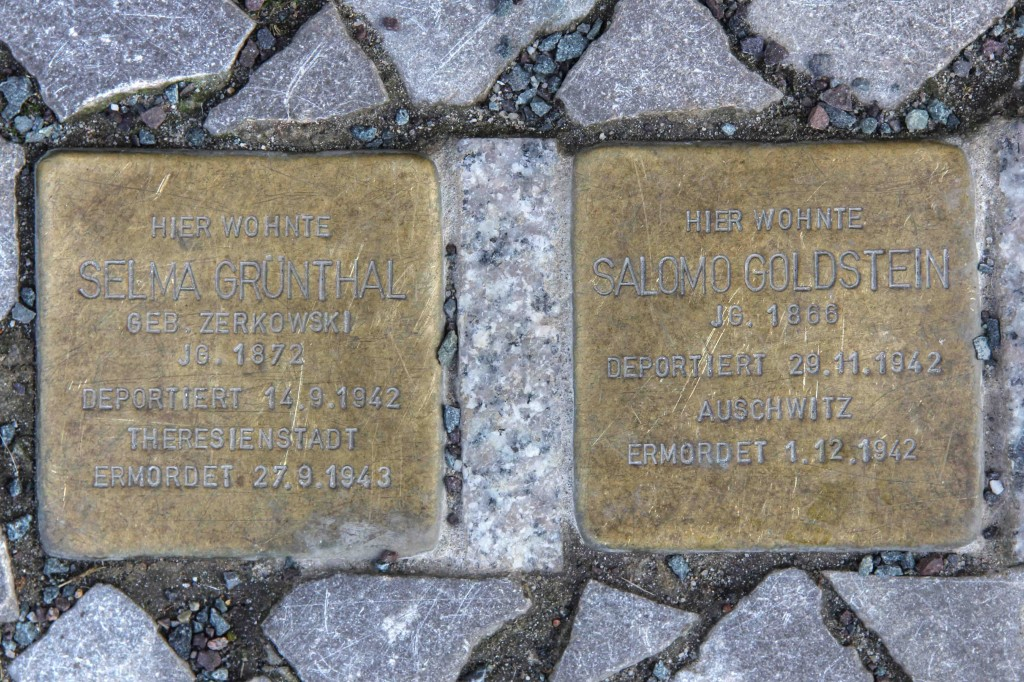 Stolpersteine Berlin 189 (4): In memory of Selma Grünthal and Salomo Goldstein (Schlüterstrasse 54)