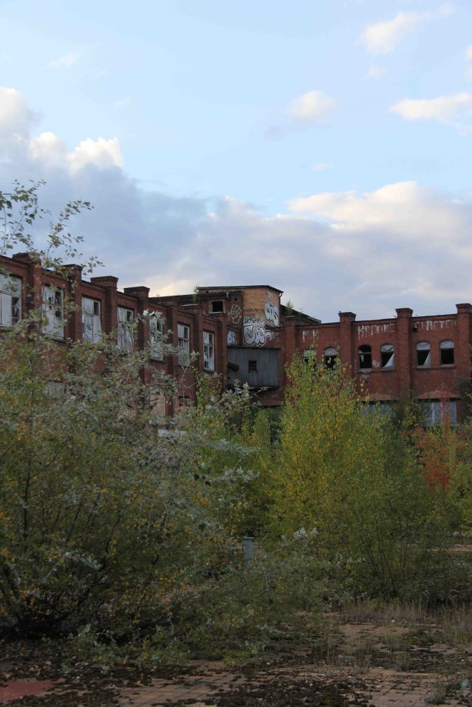 The Courtyard at Rewatex Berlin - an abandoned industrial laundry and dyeing factory