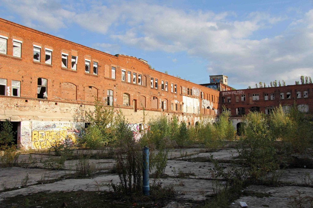 The Courtyard of Rewatex Berlin - an abandoned industrial laundry and dyeing factory