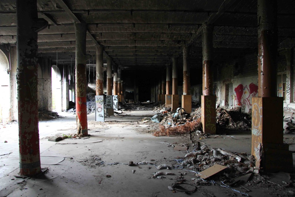 The Factory Floor at Rewatex Berlin - an abandoned industrial laundry and dyeing factory