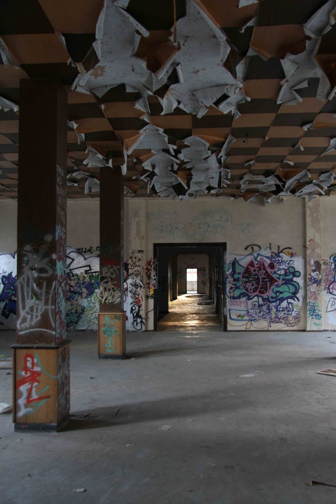 The Light At The End Of The Corridor at Rewatex Berlin - an abandoned industrial laundry and dyeing factory
