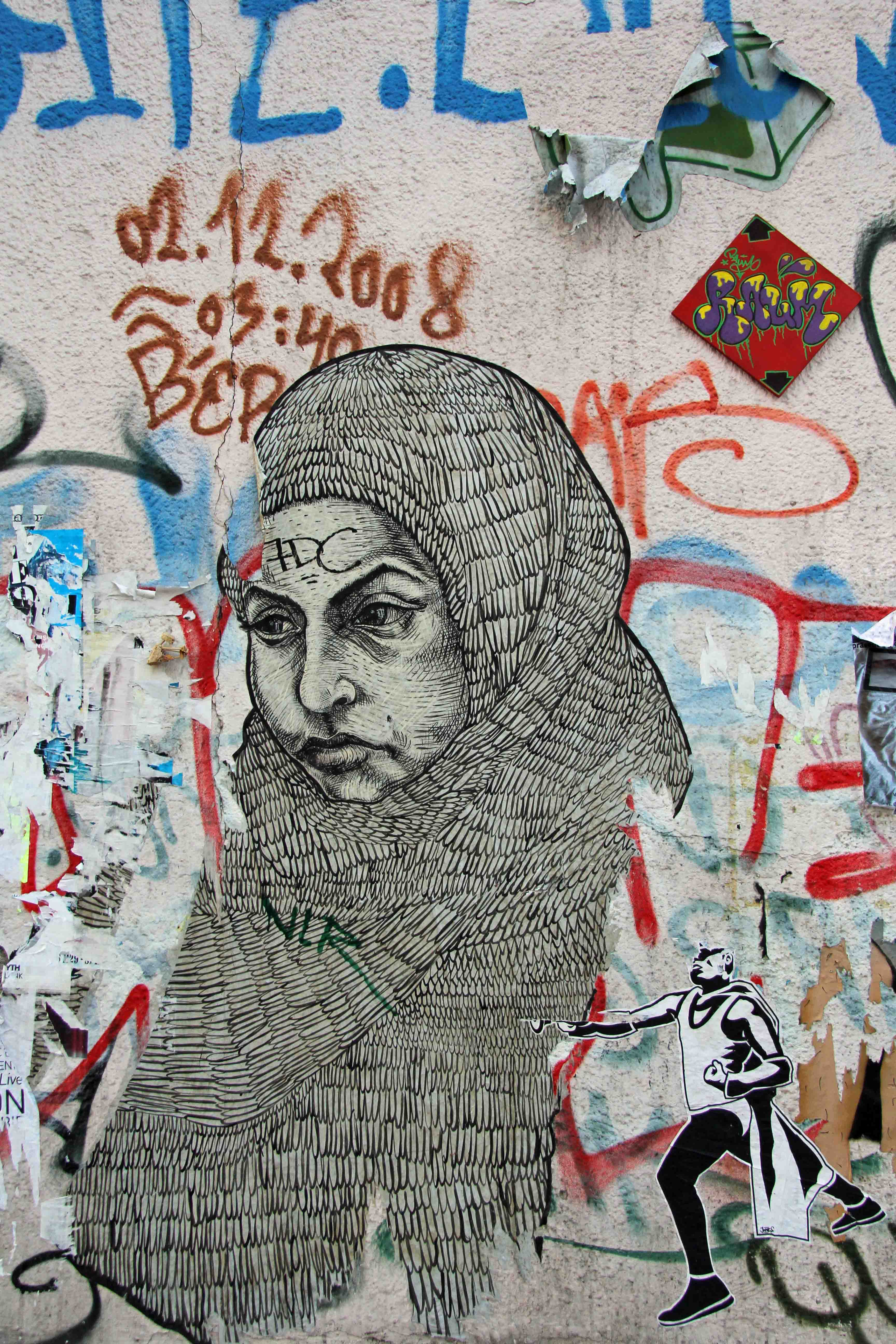 Hijab - Street Art by Unkown Artist in Berlin