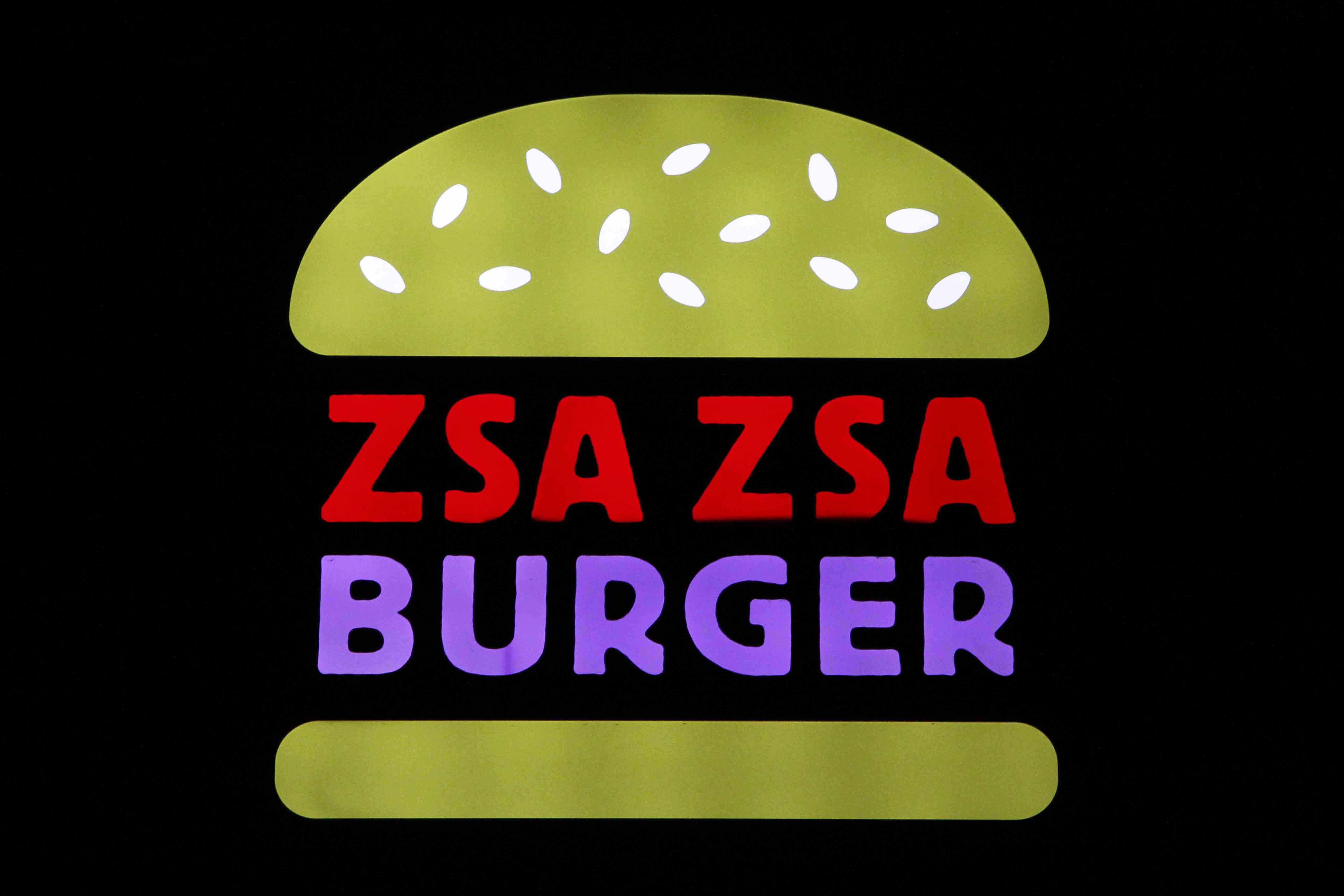 Zsa Zsa Burger Sign in Berlin Schöneberg