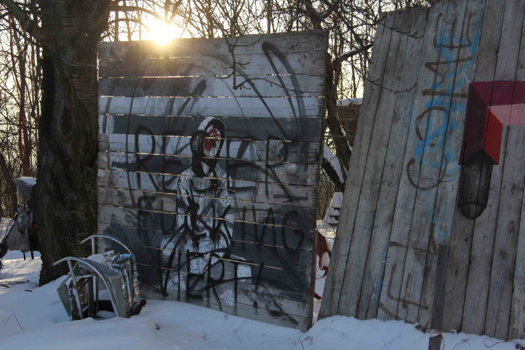 Headless - Street Art by ALIAS (painted for Artbase 2012) at the former NSA Listening Station at Teufelsberg Berlin