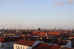 Berlin Skyline – The View From the Parkdeck of Neukölln Arcaden