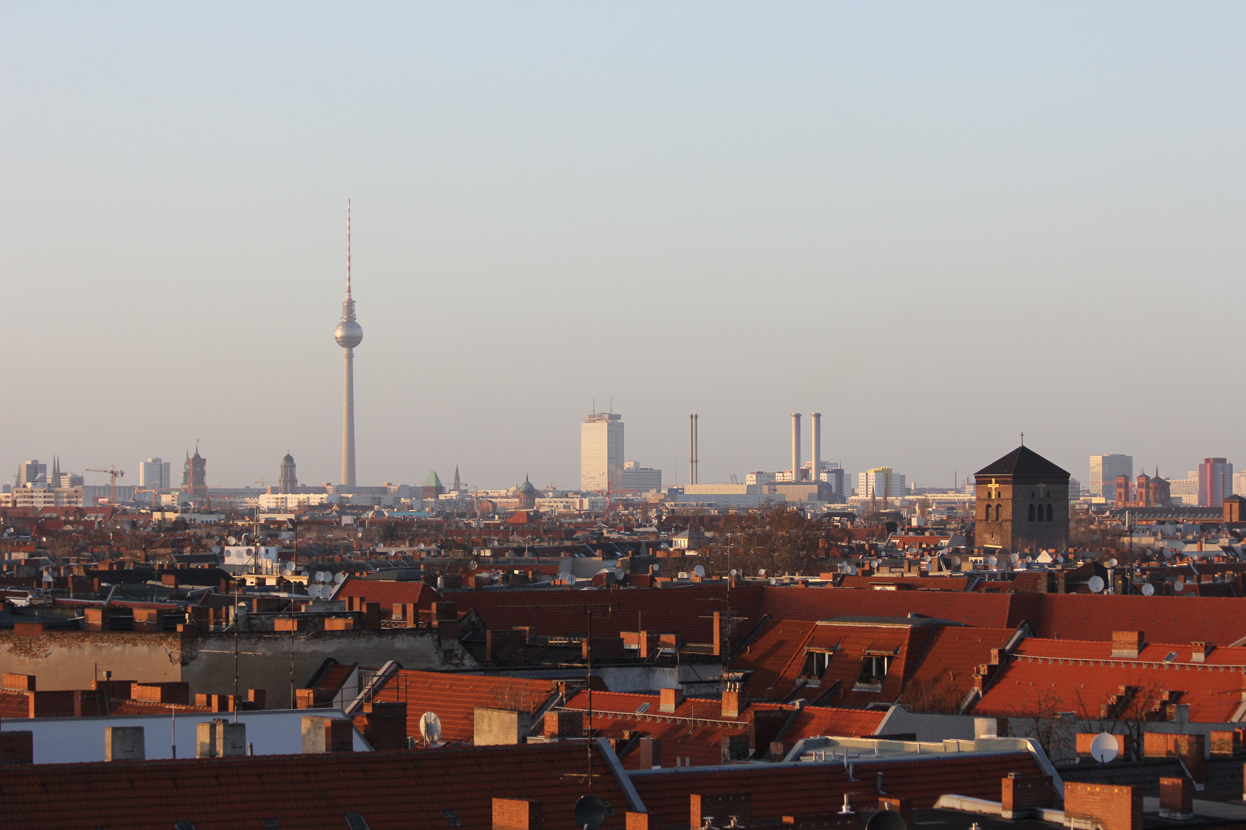 Berlin Skyline - The view from the Parkdeck of the Neukölln Arcaden