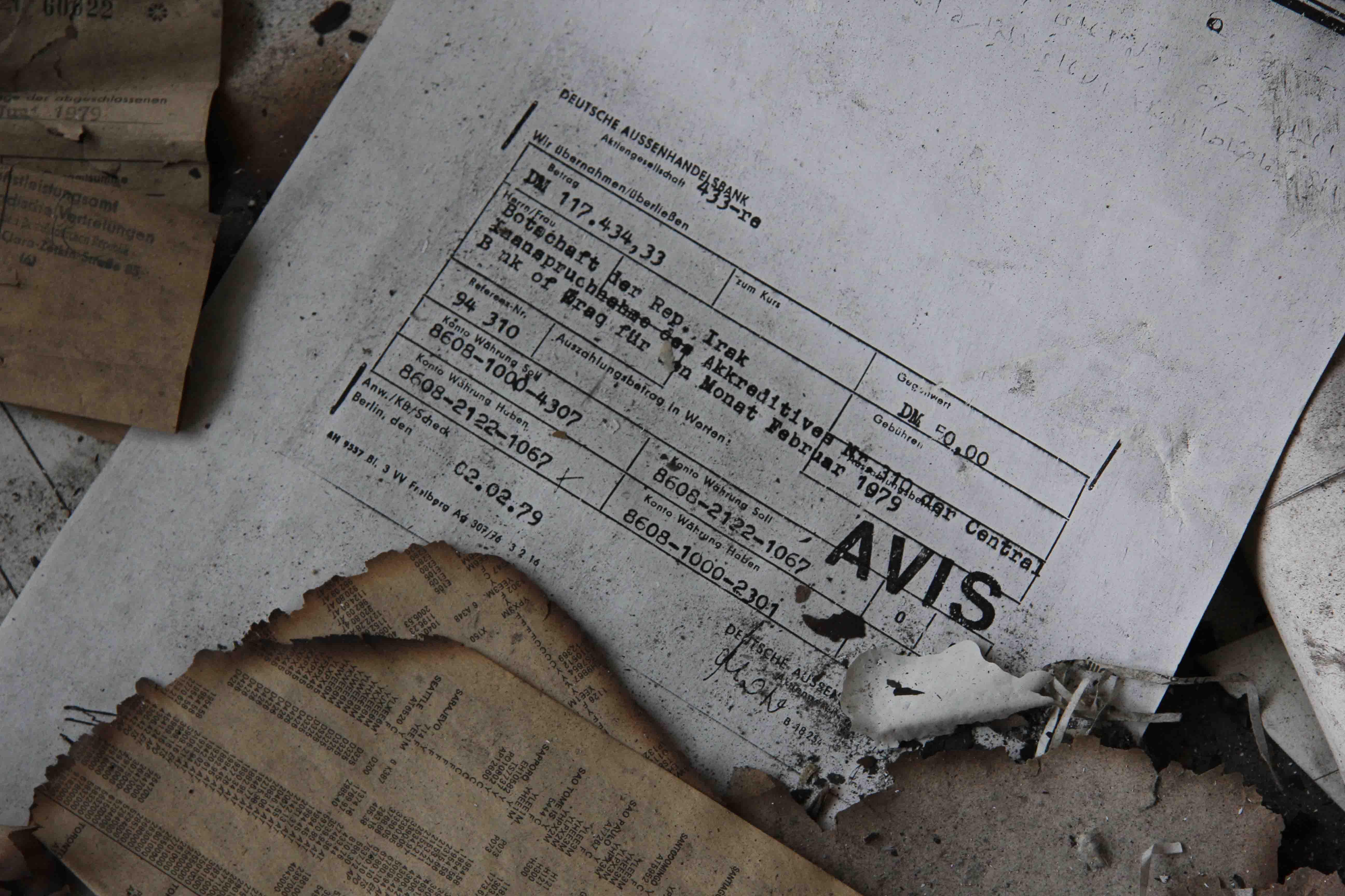 Burnt Paperwork - Abandoned Iraqi Embassy Berlin - Die Verlassene Irakische Botschaft