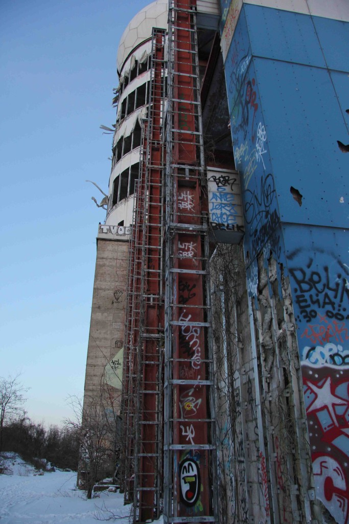 The main dome tower at the former NSA Listening Station at Teufelsberg in Berlin