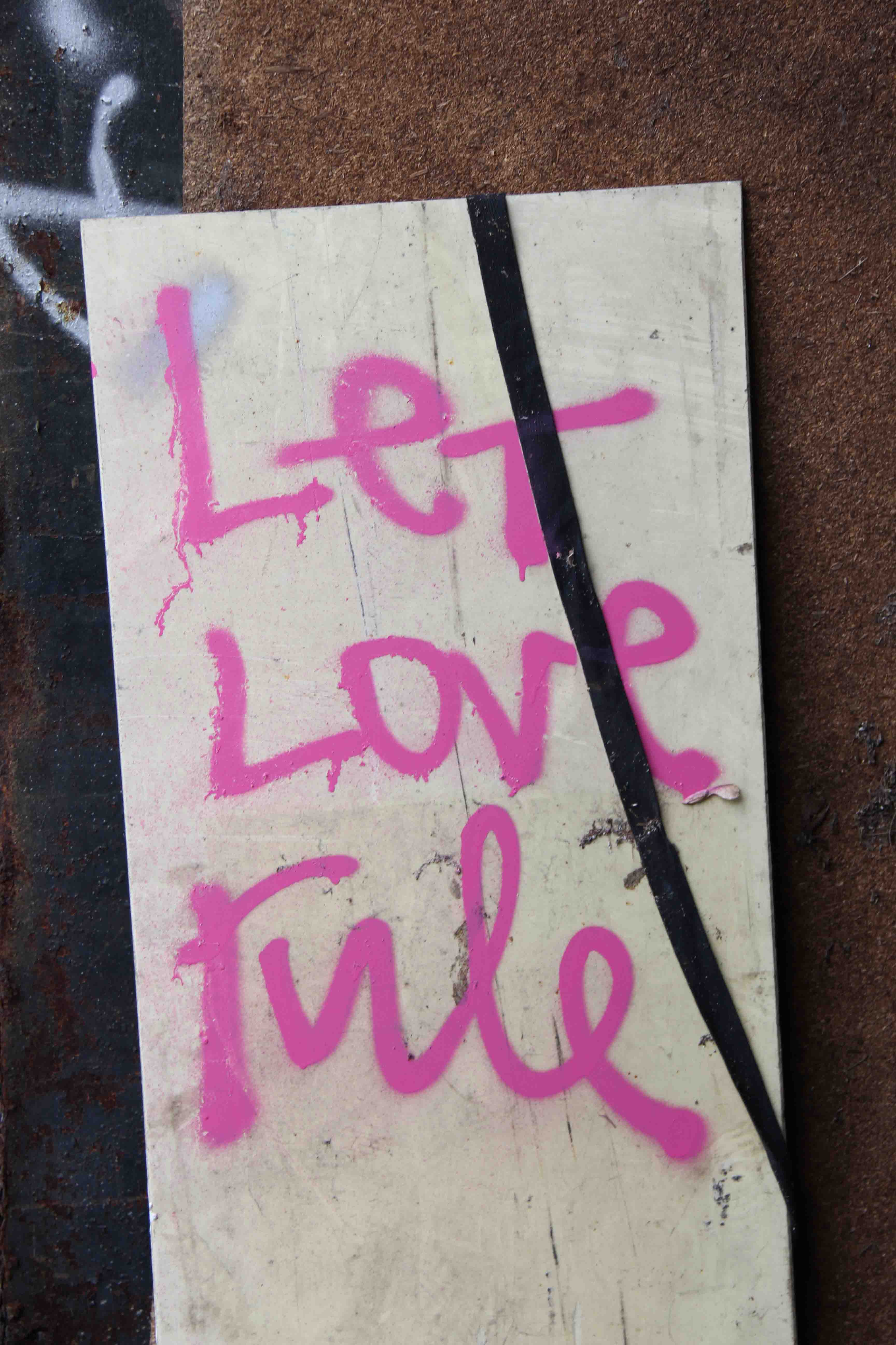 Let Love Rule - Graffiti by Unknown Artist at Bärenquell Brauerei - an abandoned brewery in Berlin