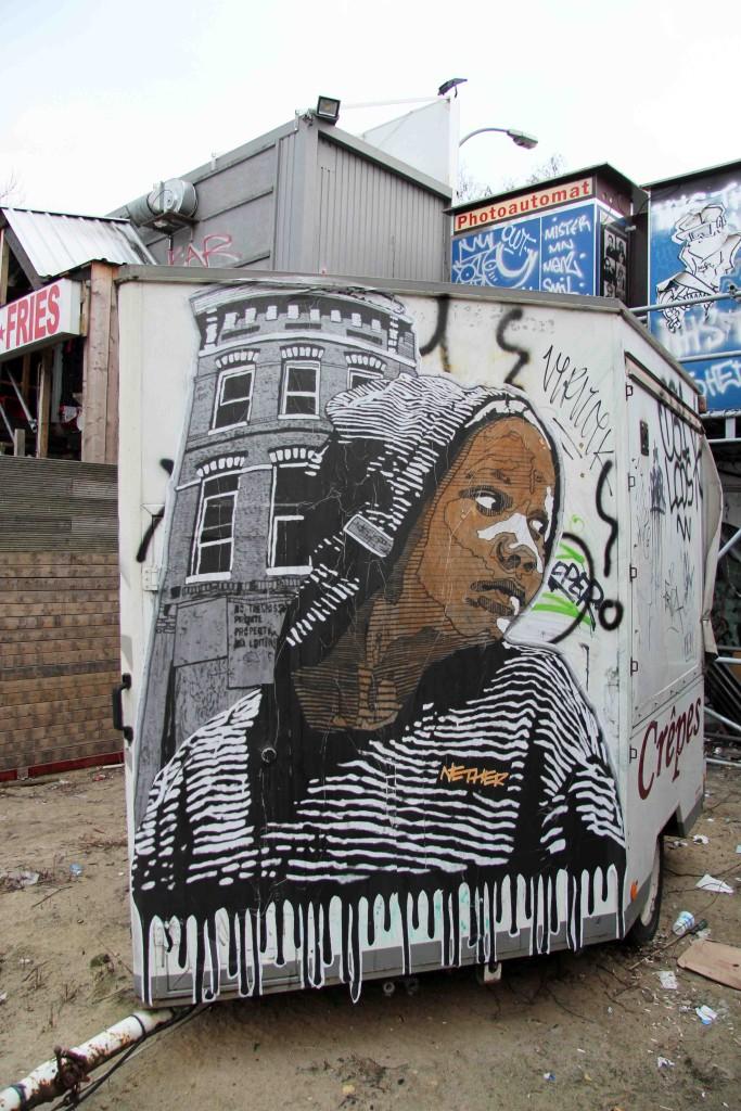 Crêpes - Street Art by NETHER on a food van in Berlin