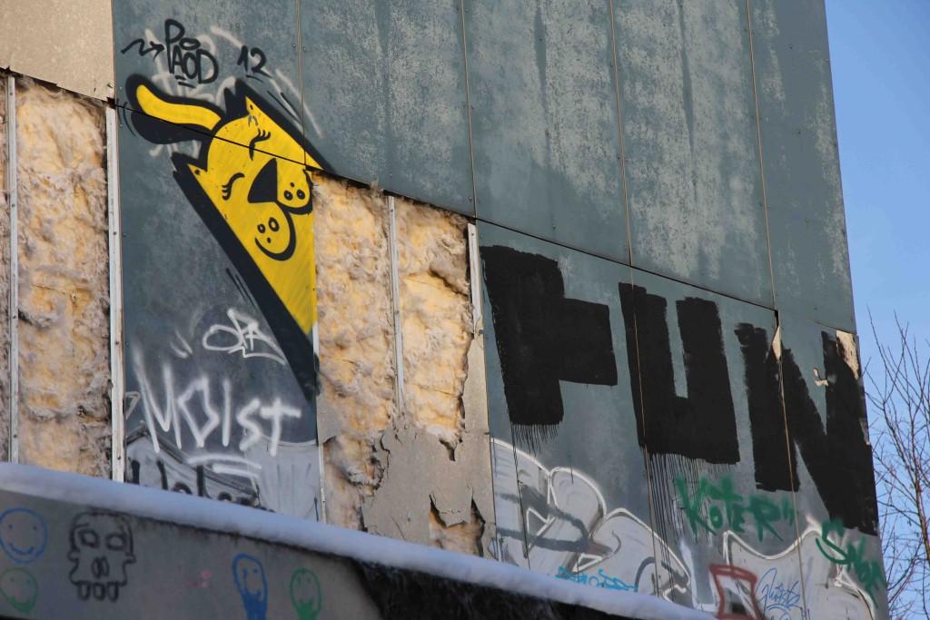 Cat - Street Art by PAOD at the former NSA Listening Station at Teufelsberg Berlin