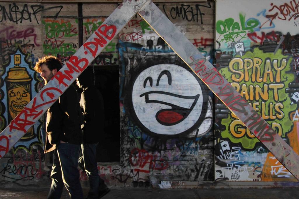 PROST - Street Art by Mein Lieber Prost at the former NSA Listening Station at Teufelsberg Berlin