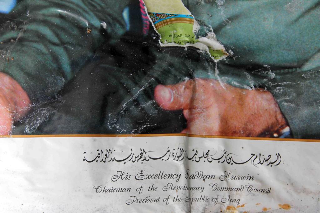 Saddam Hussein Hands and Title on Calendar - Abandoned Iraqi Embassy Berlin - Die Verlassene Irakische Botschaft