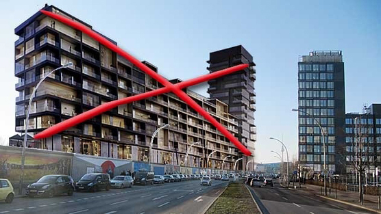 Save East Side Gallery Petition - A computer generated image of flats at the Wall