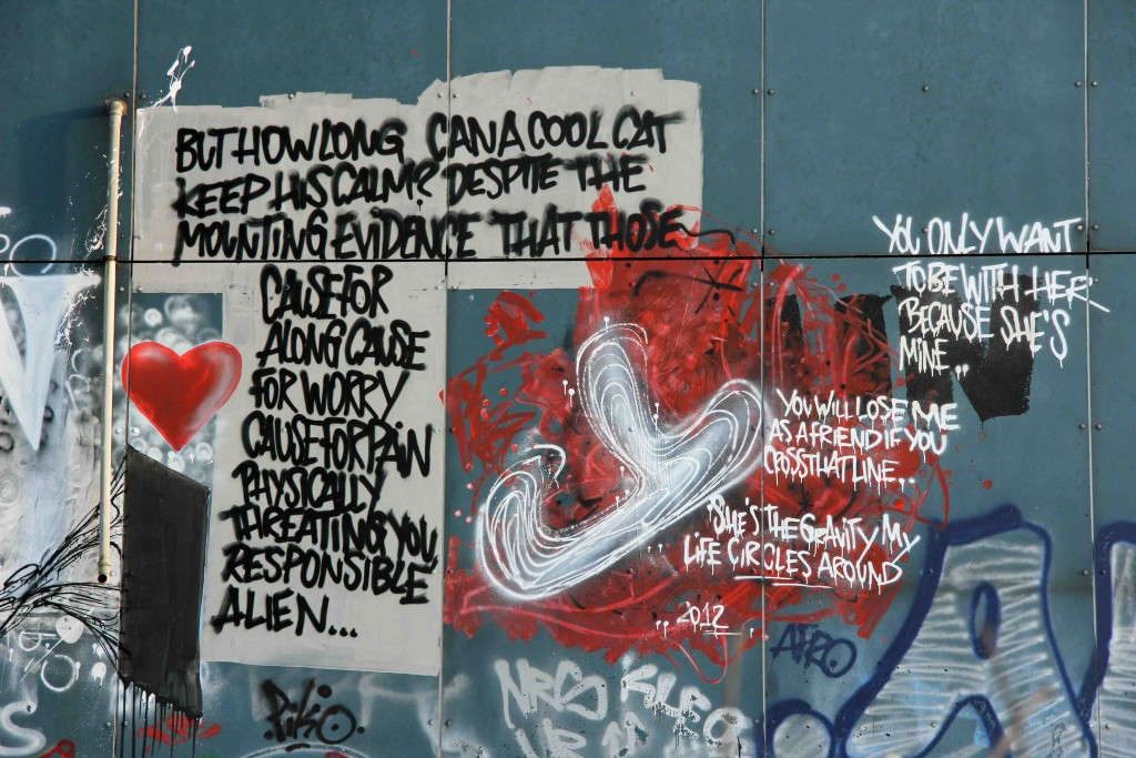 Slogans by Unknown Artist at the former NSA Listening Station at Teufelsberg Berlin