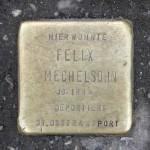 Stolpersteine Berlin 192: In memory of Felix Mechelsohn (Adalbertstrasse 95A)