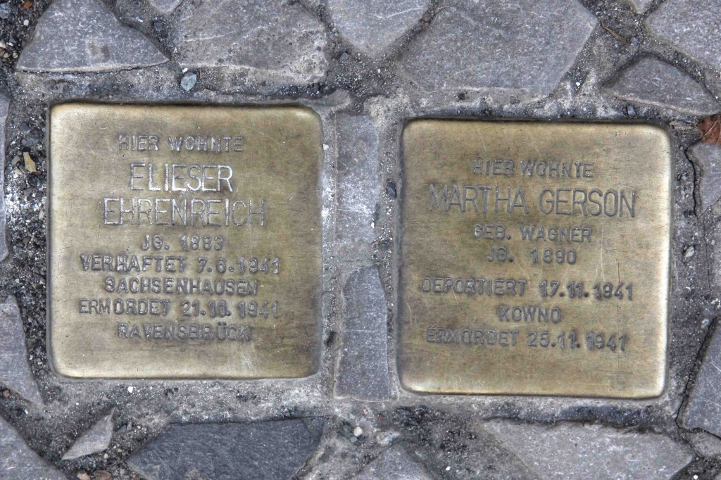 Stolpersteine Berlin 194: In memory of Eliser Ehrenreich and Martha Gerson (Mommsenstrasse 69)